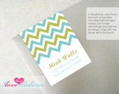 ON SALE - Personalized Chevron Address Labels/Bookplate