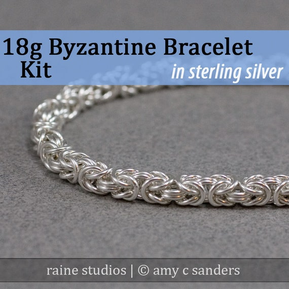 Out of Town 5/25-30/17: 18g Byzantine Bracelet Chainmaille Kit in Sterling Silver