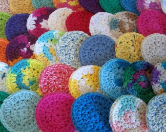 Cotton Face Scrubbies, Set of 20