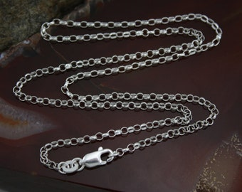 16 Inch Sterling Silver 2.3mm Rolo Chain
