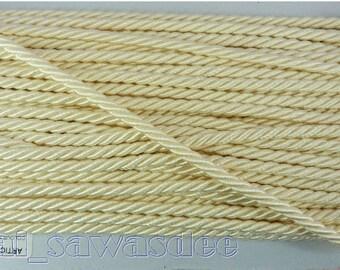 Light Cream Twist Cord Chain Pendant Rope Jewelry Thread 18 Yards