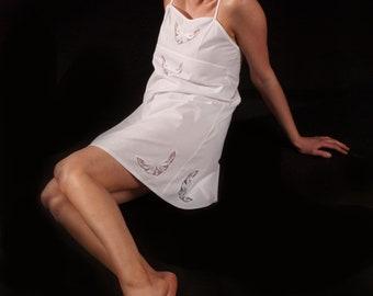 Snow white cotton nightie