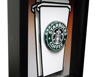 Starbucks Coffee Mug Kitchen Art 3D Pop Artwork
