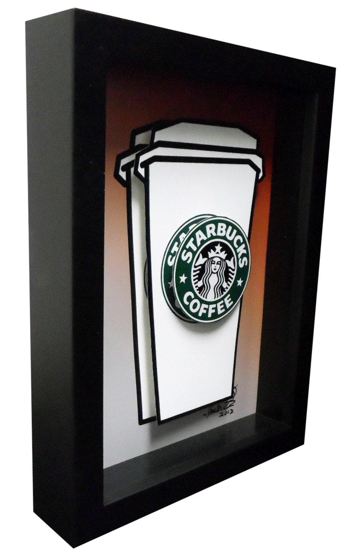 Starbucks Coffee Mug Kitchen Art 3D Pop Artwork