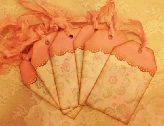 6 Any Occasion Gift Tags - French Boho Romantic Shabby
