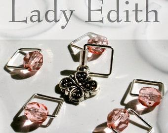 Lady Edith, Downton Abbey . . . Stitch Marker Set