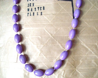 Lavender Vintage Beaded Necklace * On Sale!