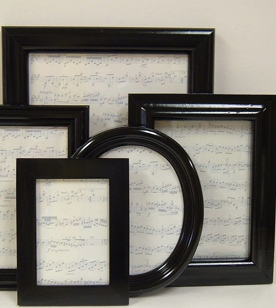 Picture Frames Set Modern Home Decor Black and White Gallery Wall Decor