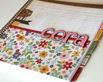 School Memory Book * School Journal * School Days Scrapbook * First Day of School Scrapbook * CORA design