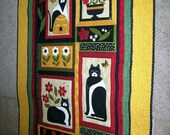 A Cat For All Seasons - QUILTED WALL HANGING