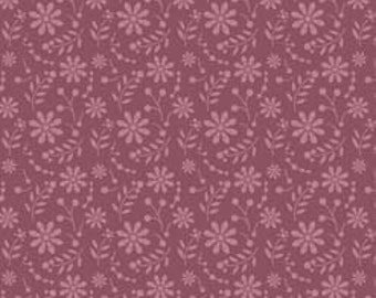 So Sophie Purple Floral by My Mind's Eye for Riley Blake, 1 yard