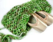 Ballet/Pointe Shoes Bag - Bright Green Multi