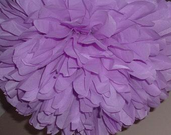 Set of 8 Large tissue paper pom. wedding, baby shower, bridal shower decoration.  pick your color