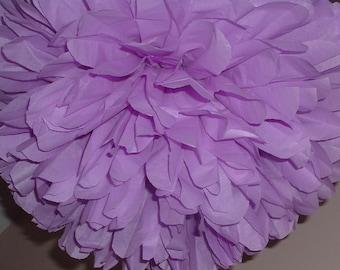 Set of 5 Medium tissue paper pom. wedding, baby shower, bridal shower decoration.  pick your color