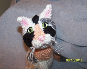 Crochet calico cat ANY colors  you want Can be made to look like your kitty