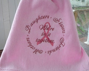 Breast Cancer Awareness - Fingertip Towels - We're in it Together