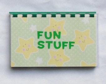 "SALE ITEM Price is marked Handmade ""Fun Stuff"" Blank Recipe book"