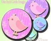 Birds 1 inch Circle Images digital collage sheet , Bottlecap bird clipart, bird clip art, chicks clip art, chicks clipart  no.1501