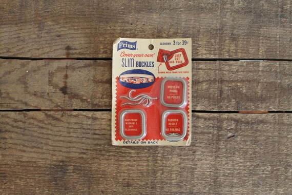 vintage 1950s belt buckles 50s deadstock sewing supplies unused prims NOS cover your own slim belt buckles