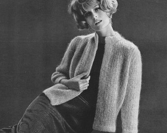 Sexy Knit  Mohair Sweater Pattern