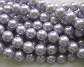 12mm Lavander South Sea Shell Pearl Beads - 16 Inch Strand