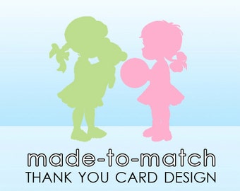 Custom Thank You Card Design by Simply Stated Creative - to coordinate with your Card, Announcement or Invitation design