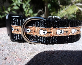 "Dog Collar Guitars 3/4"" or 1"" width Quick Release buckle adjustable -  no martingales"