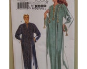 "Unisex Caftan Pattern, African/ Arabic, Loose Fitting, Pullover , Slit Neck, Braid Trim, Vogue 7018 UNCUT One Size (Chest 30-44"" 76-112 cm)"