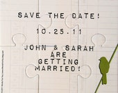 Save the Date - Wedding Custom Interactive Foam Puzzle Message Card - Made with Your Colors and Message