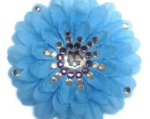 Blue Penny Blossom Sparkly Flower Barrette (The Big Bang Theory)
