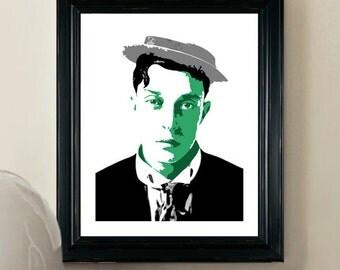 Buster Keaton Print - Pop Art Poster - 8x10 - Giclee Pop Art Print