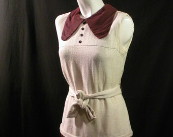 Brown and Tan Sixties Dress/Jumper