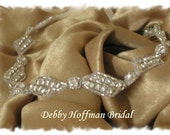 Wedding Headband, Bridal Rhinestone Ribbon Headband, Halo Headband, Rhinestone Crystal Bridal Head Piece, Jeweled Hair Piece, No. 1151HB
