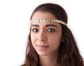 Gold Coin Forehead Head Band