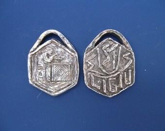 St. Eligius Patron Jewelers / Metalworkers Handmade Medal