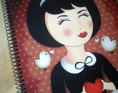 "Spiral bound notebook ""All my love"""