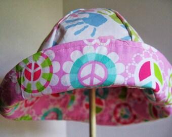 Girls Reversible Sun Hat Bucket Beach Hat