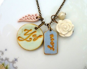 Yes to Love - Love Talisman - Affirmation - Necklace - Calligraphy jewelry