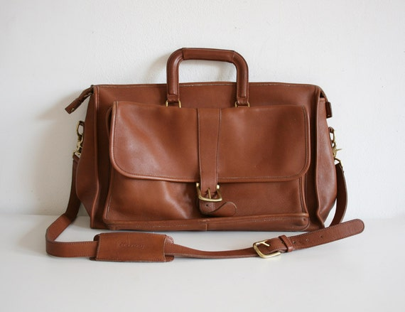Tan Coach Messenger Bag
