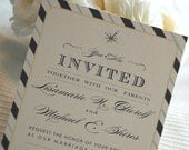 Custom link: Classic Block Wedding invitations