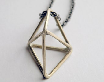 Geometic Mystic Crystal Prism Handmade Necklace himmeli