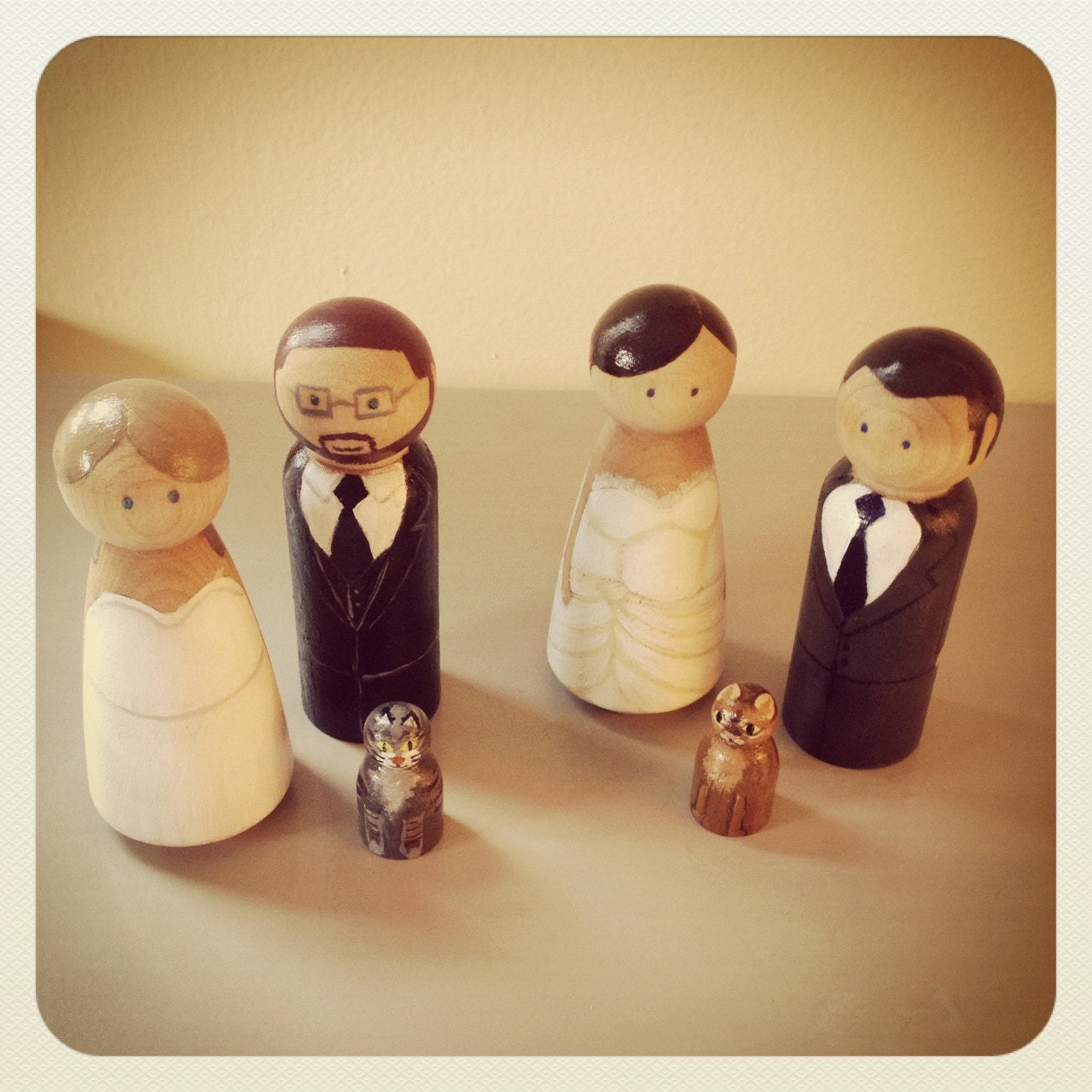 wedding cake toppers wooden dolls custom wedding cake topper wooden peg doll wooden dolls 26642