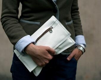FOKS FORM Clu Bag 01, leather clutch, weeding clutch, leather handbag, evening bag, leather purse