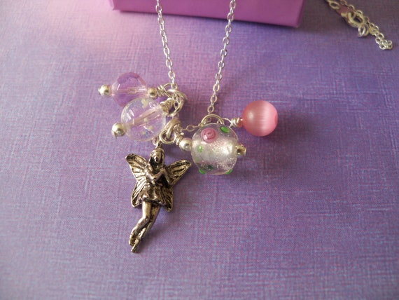Girl Necklace, Fairy, Glow in the Dark, Little Girl Jewelry,  Little Miss