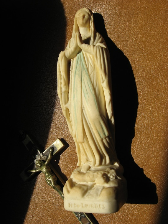 Reserved for Eclecticpelican  Blessed Virgin Mary statue signed Depuge Galy