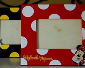 Mickey or Minnie Mouse Photo Frame - Coordinates with Party Decor