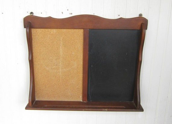 Vintage Message Board Cork And Chalk