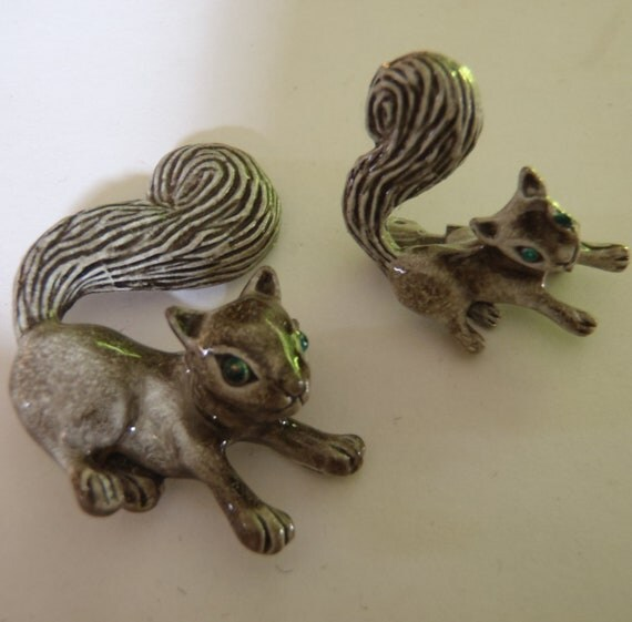 Vintage Squirrel Pin Set by Gerry's