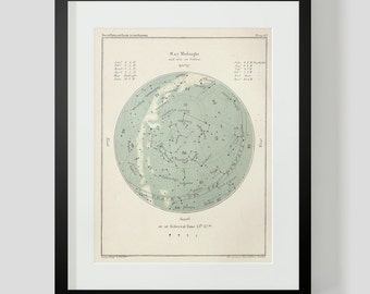 May Star Chart Constellations Popular Guide to the Heavens Plate 43