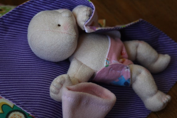 Soft sculpture doll made to order  - 9 inch
